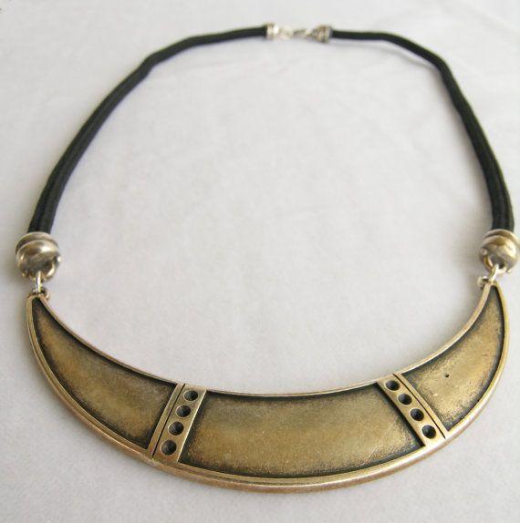 Black rope necklace Modern necklace Minimalistic by GIASEMAKI