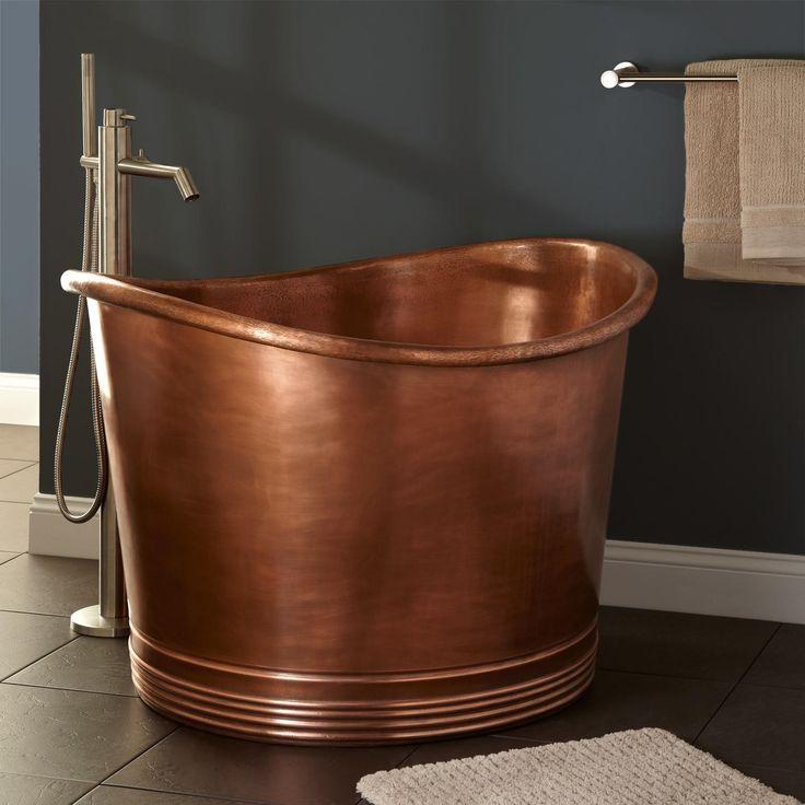 "Japanese tub | Home / Bathroom / 41"" Massa Copper Japanese Soaking Tub"