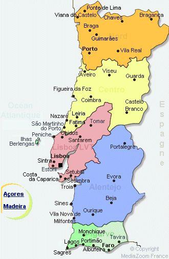 Les 25 Meilleures Ides De La Catgorie Carte Du Portugal