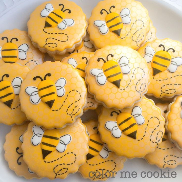 Busy bee birthday cookies                                                                                                                                                      More