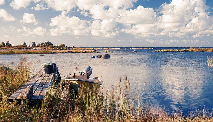 Boat near the blue sea