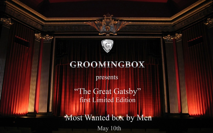 "Groomingbox presents the first Limited Edition...  We kindly invite you for the world official premiere of ""The Great Groomingbox"" to Groomingbox.com  http://www.facebook.com/photo.php?fbid=266138856866109=pb.183304345149561.-2207520000.1369756616.=3 #groomingbox #mensgrooming #grooming #thegreatgatsby #shaving #officiallaunch"