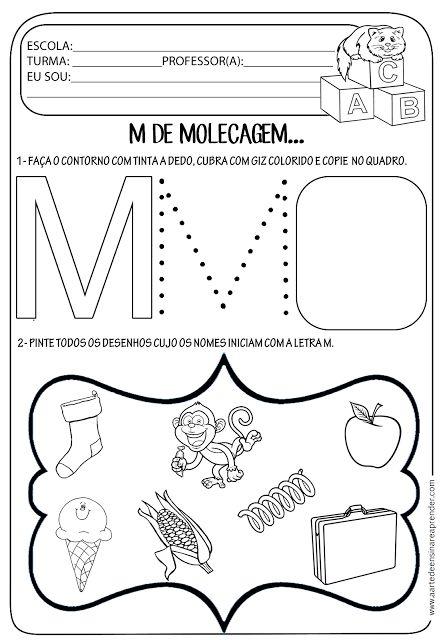 25 Melhores Ideias De Atividades Letra M No Pinterest