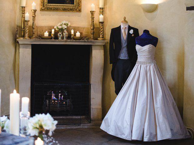 A beautiful Ian Stuart gown from Cheltenham's Wedding Days. © Weddings by Nicola & Glen. #weddingdresses #cotswoldwedding #bridalstyle