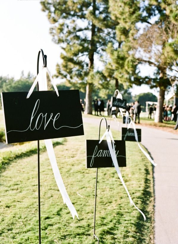 Outdoor wedding decor.