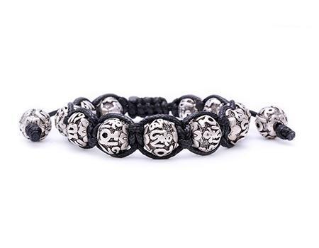 Lotus Beads Shamballa Bracelet