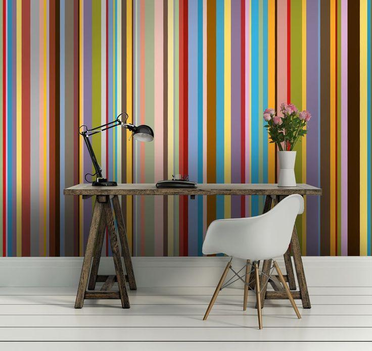 les 25 meilleures id es de la cat gorie papier peint rayures sur pinterest rayures peintes. Black Bedroom Furniture Sets. Home Design Ideas