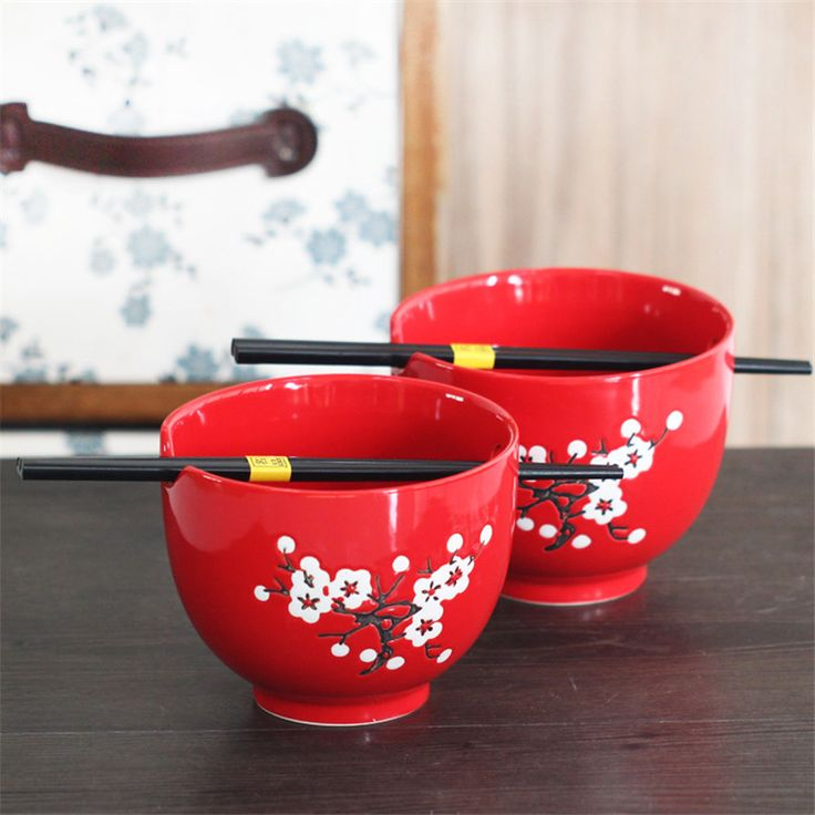 Wedding Gifts Bowl Chinese Tableware Porcelain Rice Bowl Soap Bowl Glaze Red Ceramic Porcelain Dinnerware Exquisite Bowl