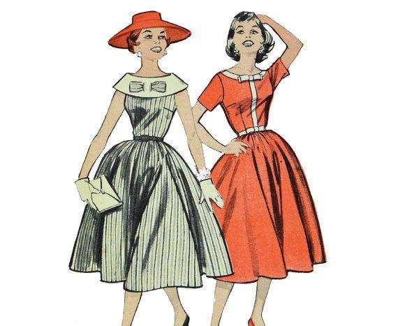Vintage 50s Dress Patterns / 1950s Full Skirt by ScarlettsVault