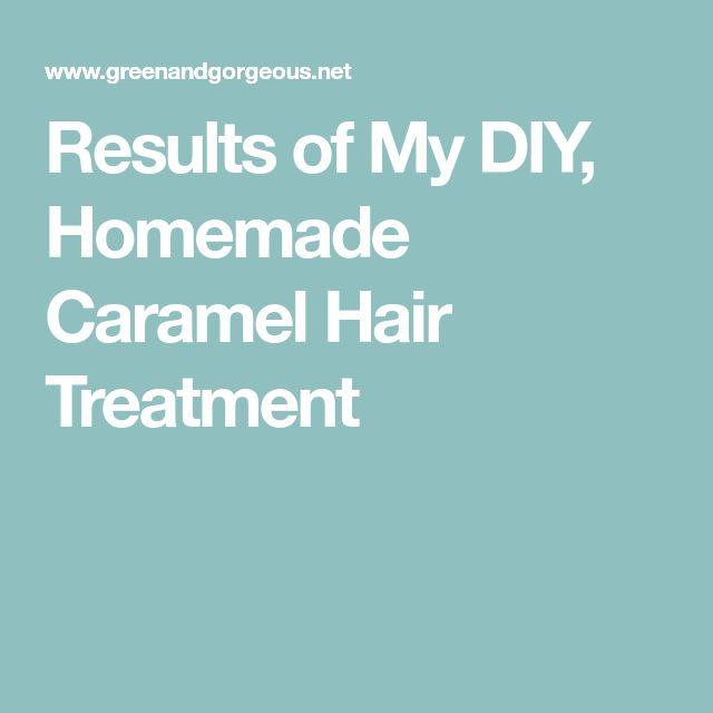 Results of My DIY, Homemade Caramel Hair Treatment