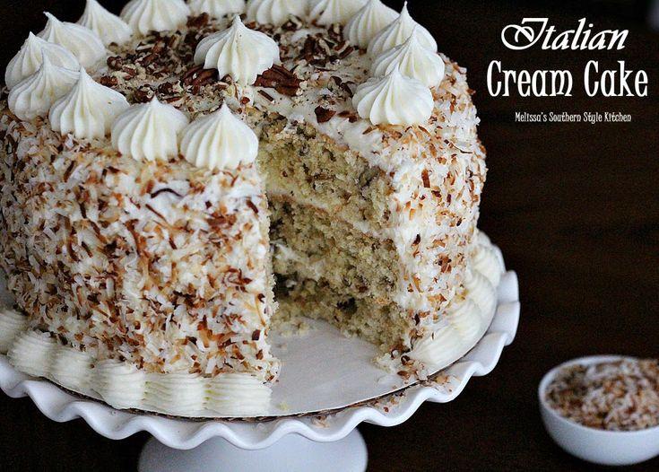 Melissa's Southern Style Kitchen: Italian Cream Cake