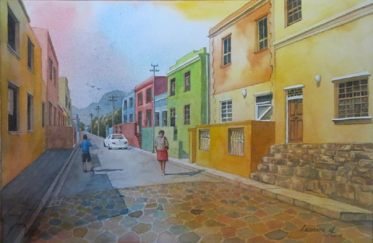 Colourful Bo Kaap -watercolours