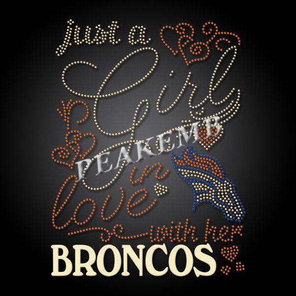 Custom Denver Broncos Rhinestone Transfer Iron On Tshirt Peakemb Rhinestone Transfers Broncos Heat Transfer Vinyl