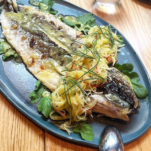 Great shot of our King George Whiting w fennel, lemon & chilli by @huckstergram from long Thursday lunch with us @firedoor_surryhills #firedoor #firedoorsurryhills #surryhills
