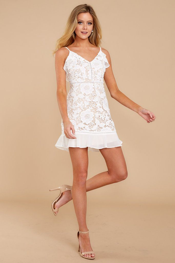 c6e2be689e3 Trendy Lace Dress - Sexy White Lace Dress - Dress -  48.00 – Red Dress  Boutique