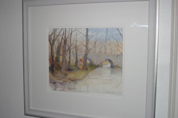 9. Riverbank, Watercolour, €140 by Anne Cullen