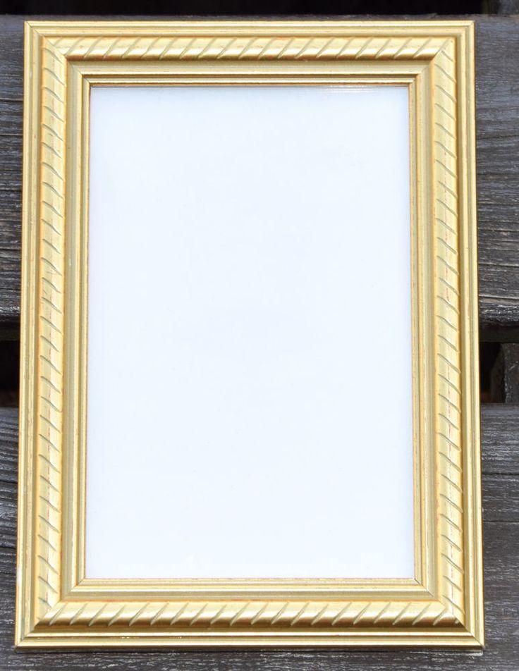 Fotorahmen Bilderrahmen Holzrahmen Rahmen goldfarbig 13 x 18 | eBay