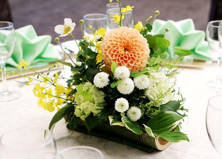 #tokugawaen#novarese#vressetrose#Wedding #japanese #table #Flower #guesttable#Bridal#徳川園# ブレスエットロゼ #ウエディング# 和風 #和装 # ゲストテーブル#トーション #テーブル # 花#テーブルコーディネート#ブライダル#結婚式#ナチュラル#ブレスエットロゼ名古屋#ダリア#オレンジ#竹