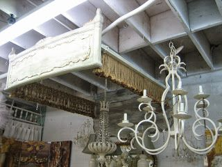 A unique way to use the things we can't find a place to store!  We can hang them from the ceiling and add fringe!!!  Fabulous idea!!!!