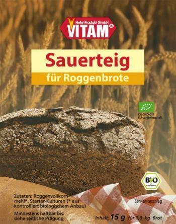 Zakwas ekologiczny do chleba w proszku (15 g) - oryginalny produkt niemiecki - Vitam