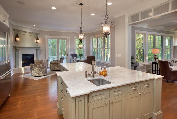 Kitchen / Hearth Room by Melaragno Design Company, LLC