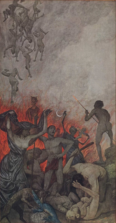 Hans Thoma Die Hölle (Hell) circa 1910