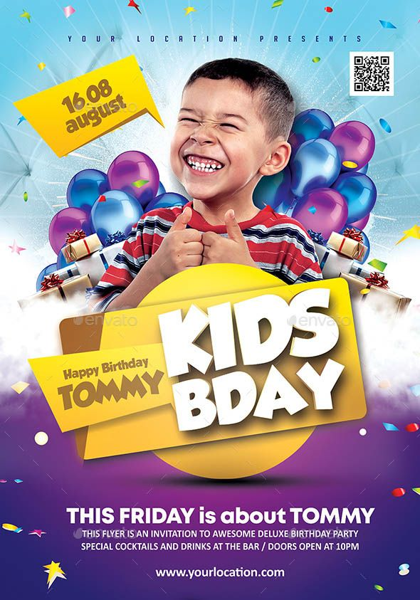 kids birthday flyer Togo wpart