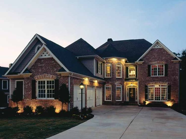 French country house plan with 3281 square feet and 5 for Dream house source