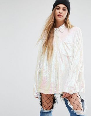 Mad But Magic - Camicia oversize con paillettes