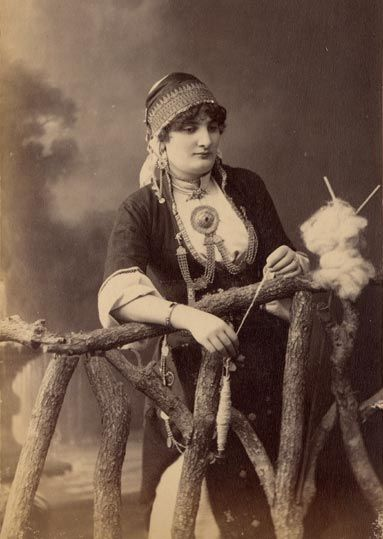 PASCAL SÉBAH Greek Lady 1873. The present picture is part of Les Costumes Populaires de la Turquie, an album of photographs by the famous photographer Pascal Sebah, on the occasion of the universal exposition in Viena in 1873.