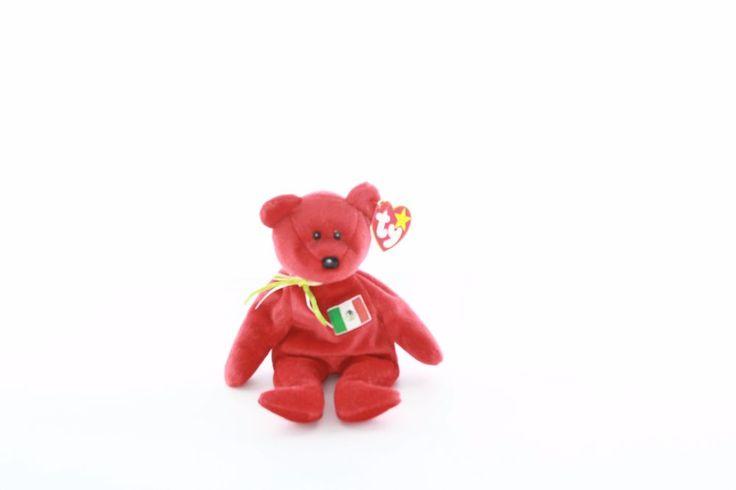 Ty Beanie baby bean bag plush stuffed animal Osito teddy bear red