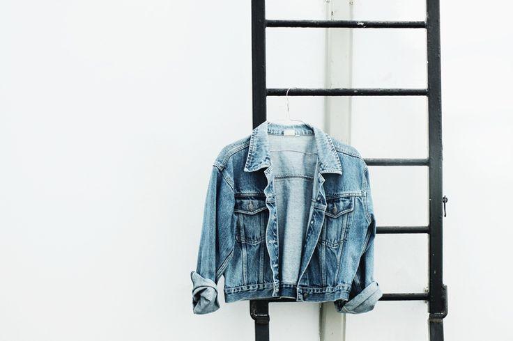 cheap trendy clothes, denim on denim, minimal style, moiminnie, milica obradovic, vintage denim jacket