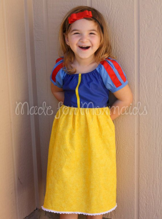 Snow White Dress everyday princess PDF Pattern instant download 6mnth-8years, $7.00