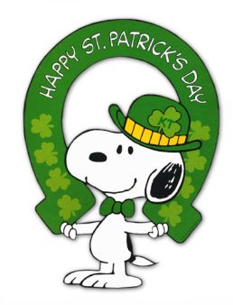 You know you're lucky because it's St. Patrick's Day and Saturday! Luck O the Irish!