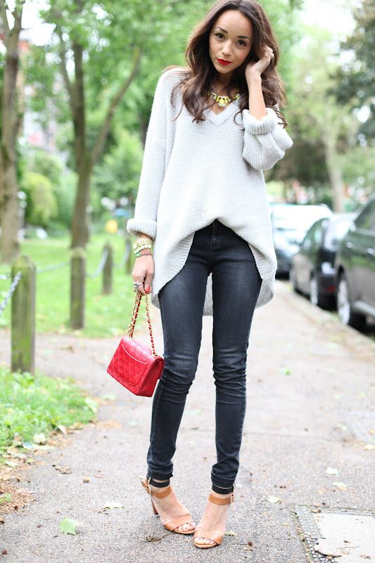 Ring My Bell: Pop: Chanel Bags, Baggy Sweaters, Fall Wint, Ashley Madekwe Fashion, Over Sweaters, Fall Outfits, Ashley Belle, Cozy Sweaters, Oversized Sweaters