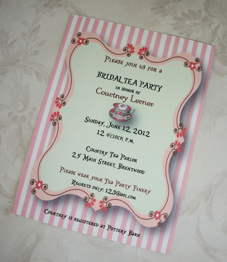 recipe themed bridal shower invitation wording%0A Tea party bridal shower invitations mixed with fascinating accessories