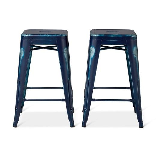 Whether you live in a loft or in a suburb, Industrial is a style that isn't going away anytime soon. Update your kitchen or entertaining space with these Distressed Stools . To create a truly unique and authentic stool, each stool goes through a 4 step finishing process where it is powder coated, hand-distressed and then finished with a clear coat to seal the look. This stool comes fully assembled, in a 2-pack and is able to be stacked if you need more space.