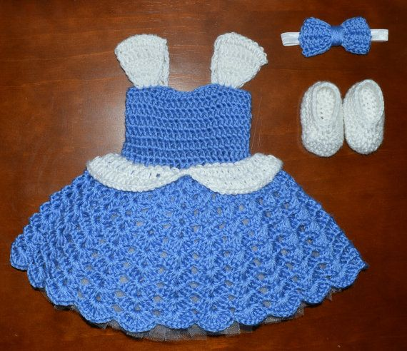 Crochet Princess Tulle Tutu Dress with Matching by CubbyCreations