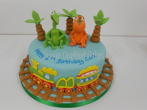 Dinosaur train - Sugar Crafted Cakes based in Ripon, North Yorkshire