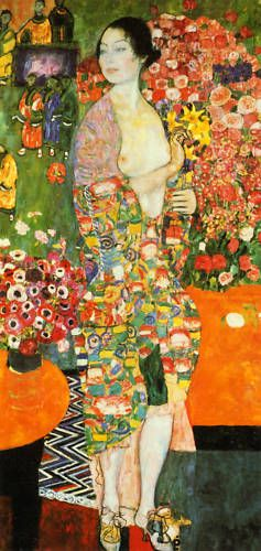 Gustav Klimt. The Dancer. 1916-18. oil on canvas.