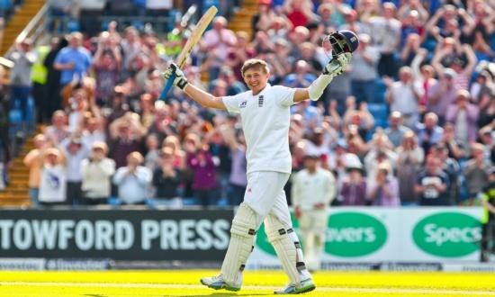 Congratulations to Joe Root on his maiden Test Match Century against New Zealand at Headingley. #England #Cricket #Joe #Root #Yorkshire