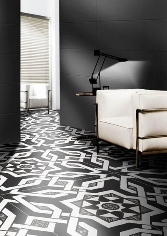 #BlackAndWhite Patterned Porcelain #Tiles