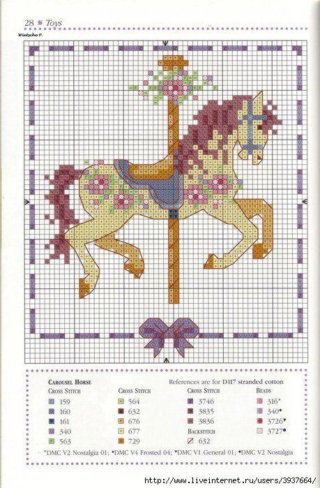 Cross-stitch Carousel Horse... Caballito