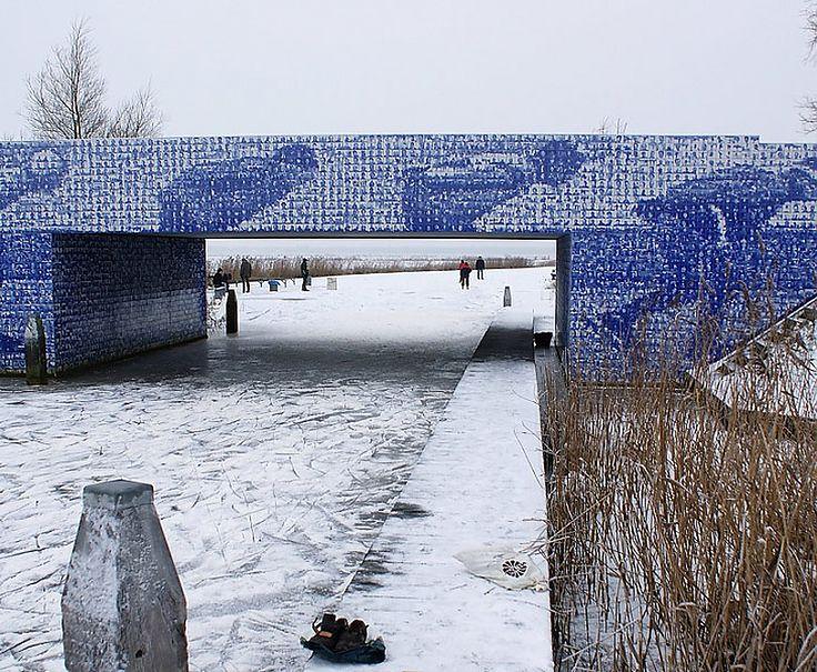 Glazed and transferred tiles for the famous Canterlandse bridge on the Elfstedentocht route produced bij Koninklijke Tichelaar Makkum.