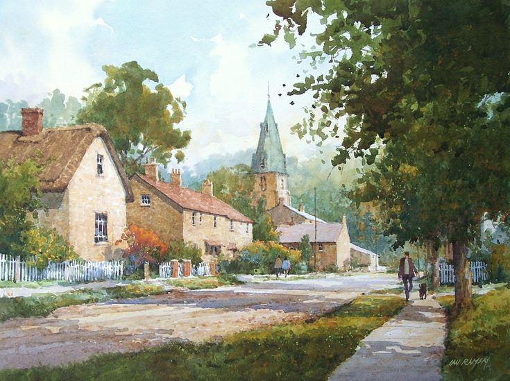 Ian Ramsay Watercolors - Cottesmore, Rutland, England