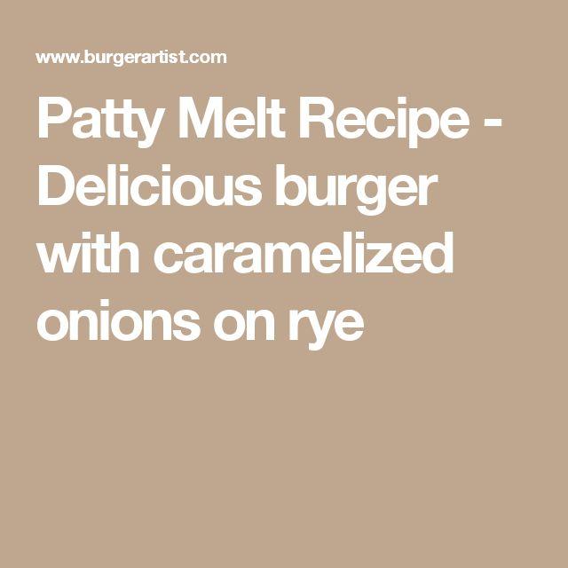 how to make a patty melt burger