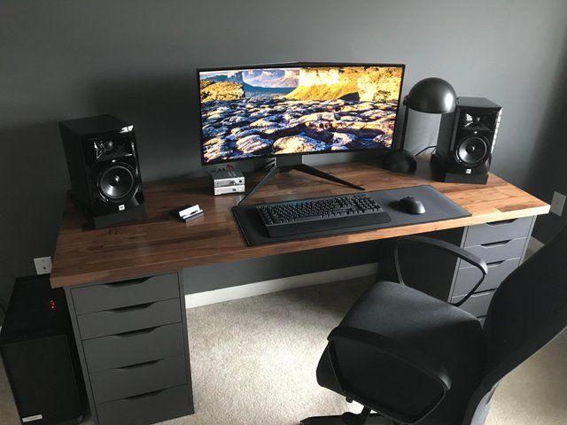 Reddit Battlestations My Karlby Battlestation With Matte Polyurethane Finish Diy Computer Desk Home Office Setup Home Office Design