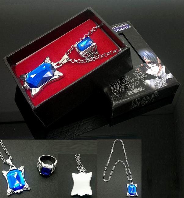 Black butler Ring Necklace RENL8711