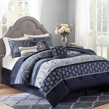 Best 25 navy blue comforter ideas on pinterest - Better homes and gardens comforter sets ...