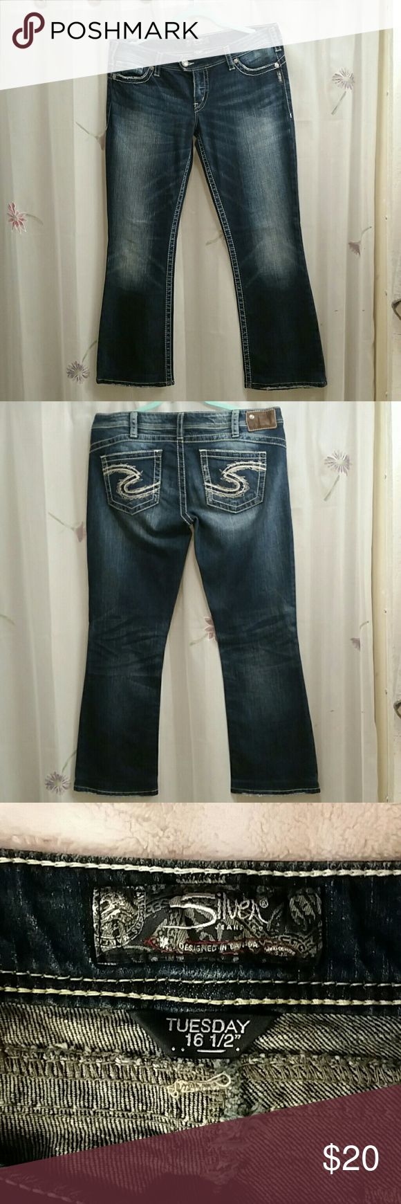 Silver Jean's For sale is a pair of Silver Tuesday  low rise jeans size 33 and custom-tailored to a 29 inseam  they were altered at the Buckle these have been worn a handful of times so they are in excellent used condition Silver Jeans Jeans Straight Leg